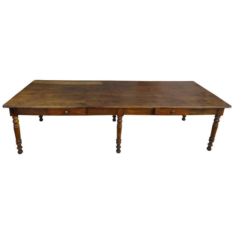 big walnut wood mid 19th century table 3 meters long at 1stdibs. Black Bedroom Furniture Sets. Home Design Ideas