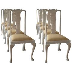 Harlequin Set of Ten Antique Urn Back Dining Chairs, English, circa 1920
