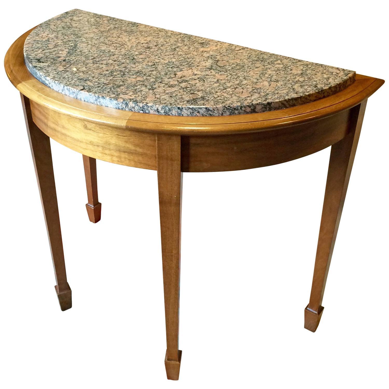 Bespoke Handmade Half Round Table Solid Walnut At 1stdibs