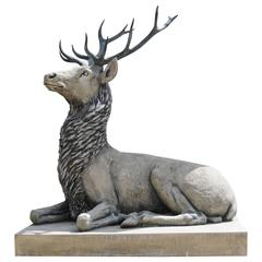 Lifesize Stone Bronze Scottish Stag Xl Elk