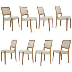 Set of Eight Danish Modern Teak Dining Chairs by Svegards, Sweden