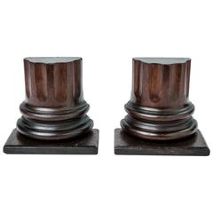 19th Century Column-Shaped Wood Bookends