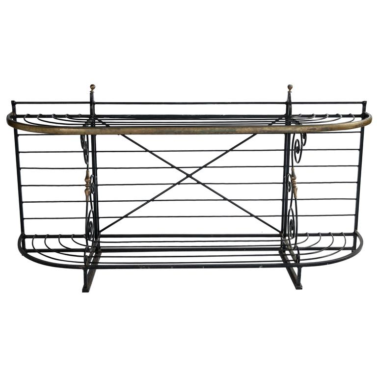 French Wrought Iron Baker's Rack