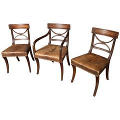 Set of 14 Late George III Mahogany Dining Chairs