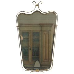 Petite French Mirror in Brass
