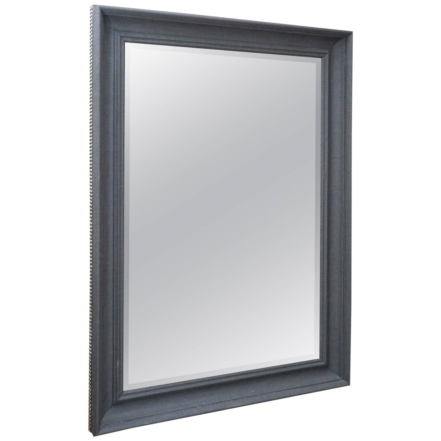 Grey flannel mirror for sale at 1stdibs for Gray full length mirror