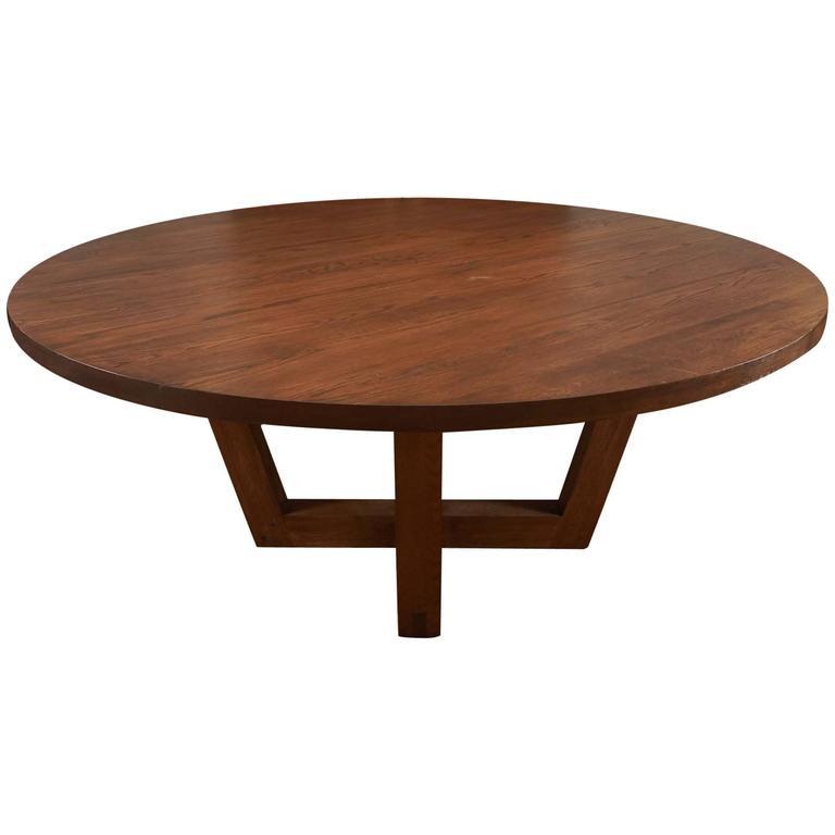 charles round oak pedestal table for sale at 1stdibs. Black Bedroom Furniture Sets. Home Design Ideas