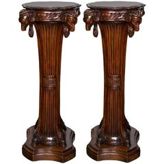 Pair of Mahogany Pedestals or Stands