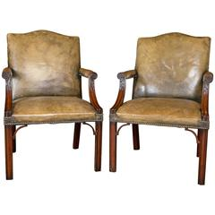 Pair of Mahogany Edwardian Gainborough Chairs