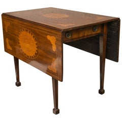 Dutch Drop-Leaf Table with Satinwood Inlay