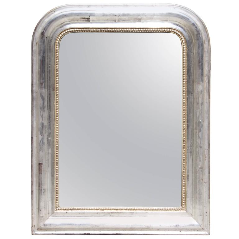 French Louis Philippe Silver Leaf Mirror 1