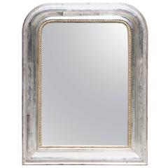 French Louis Philippe Silver Leaf Mirror