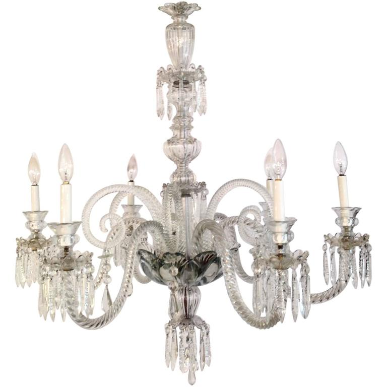 Cut crystal chandelier england circa 1900 for sale at 1stdibs - Circa lighting chandeliers ...