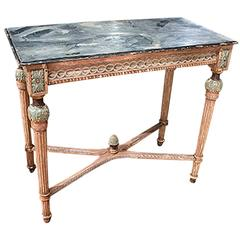 Louis XVI Painted Faux Painted Top Console