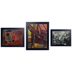 Selection of Three WPA Era Paintings