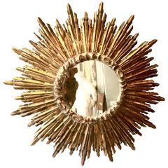Spanish Giltwood Sunburst Mirror