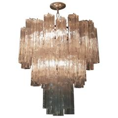 Three-Tier Murano Glass Snowflake Chandelier
