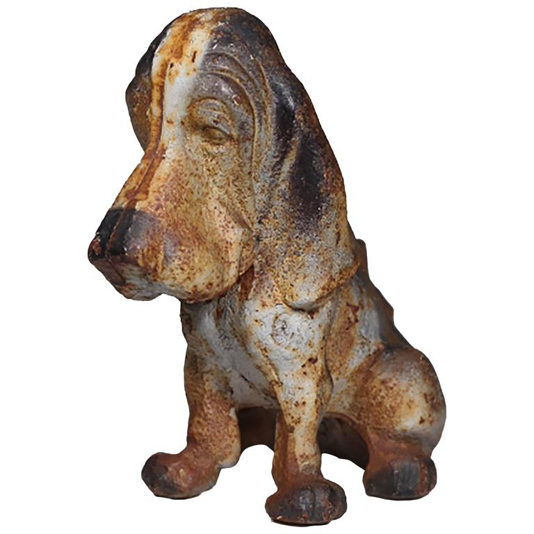 Rare Hubley Cast Iron Basset Hound Doorstop For Sale At 1stdibs