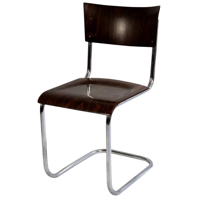 mart stam bauhaus tubular chair 1920s at 1stdibs. Black Bedroom Furniture Sets. Home Design Ideas