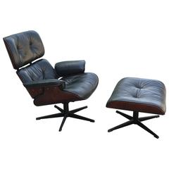 Iconic Eames Style Lounge Chair and Ottoman