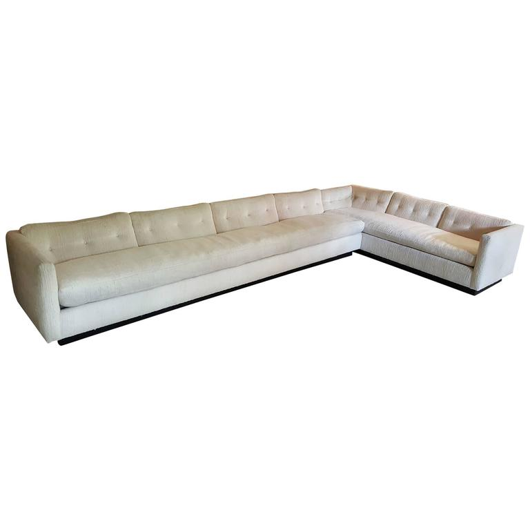 1970s down filled sectional sofa designed by everett