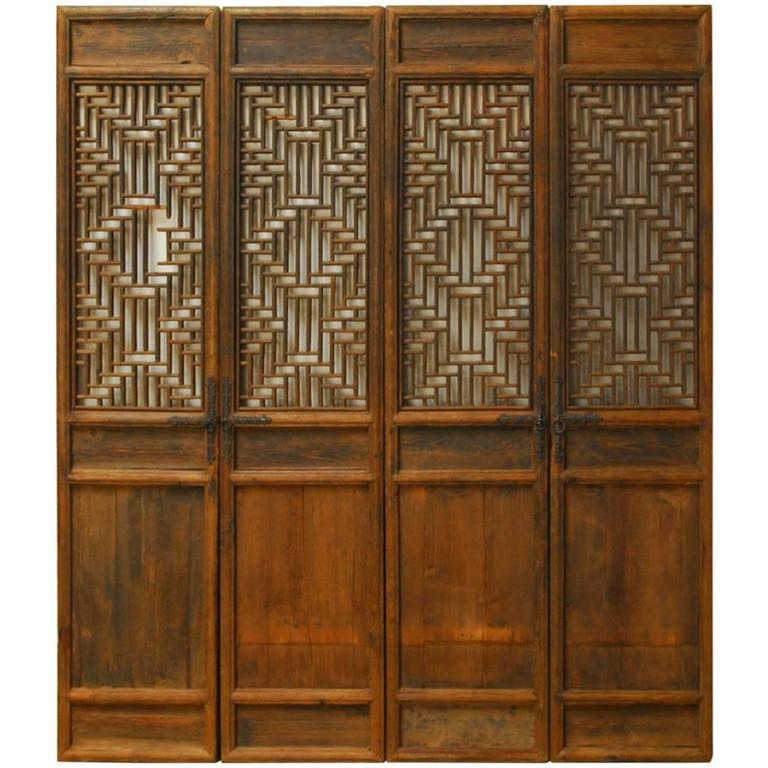 Set of Four Chinese Lattice Panel Doors For Sale  sc 1 st  1stDibs & Set of Four Chinese Lattice Panel Doors at 1stdibs