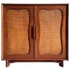 Hickory Furniture Company Rattan Front Mahogany Dresser