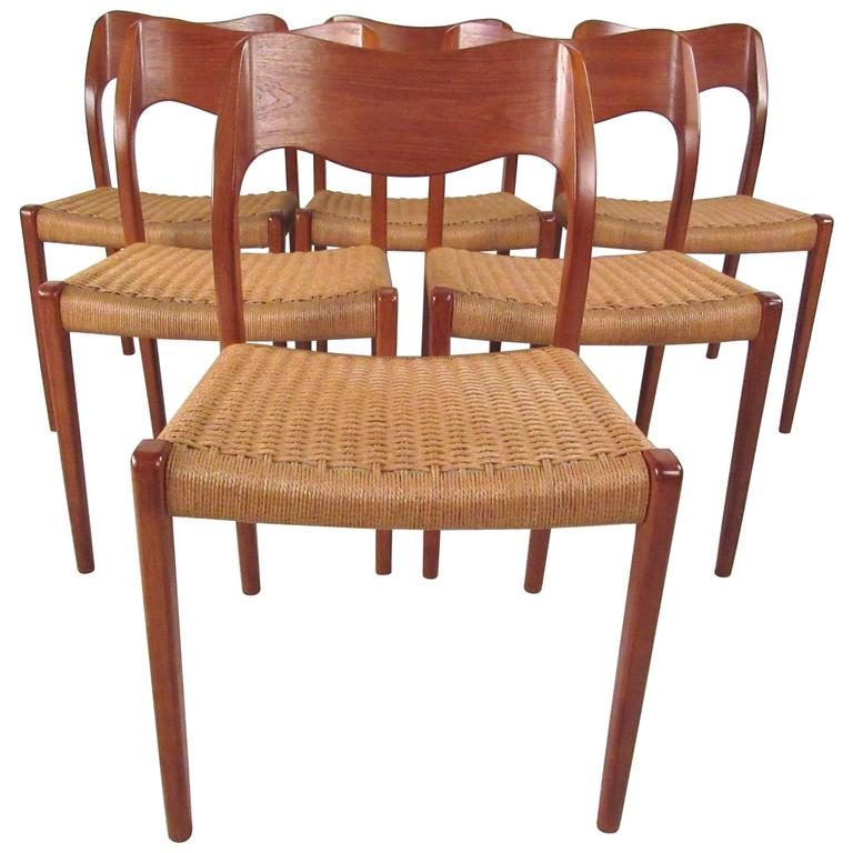 Niels Otto Moller Model 71 Teak Dining Chairs