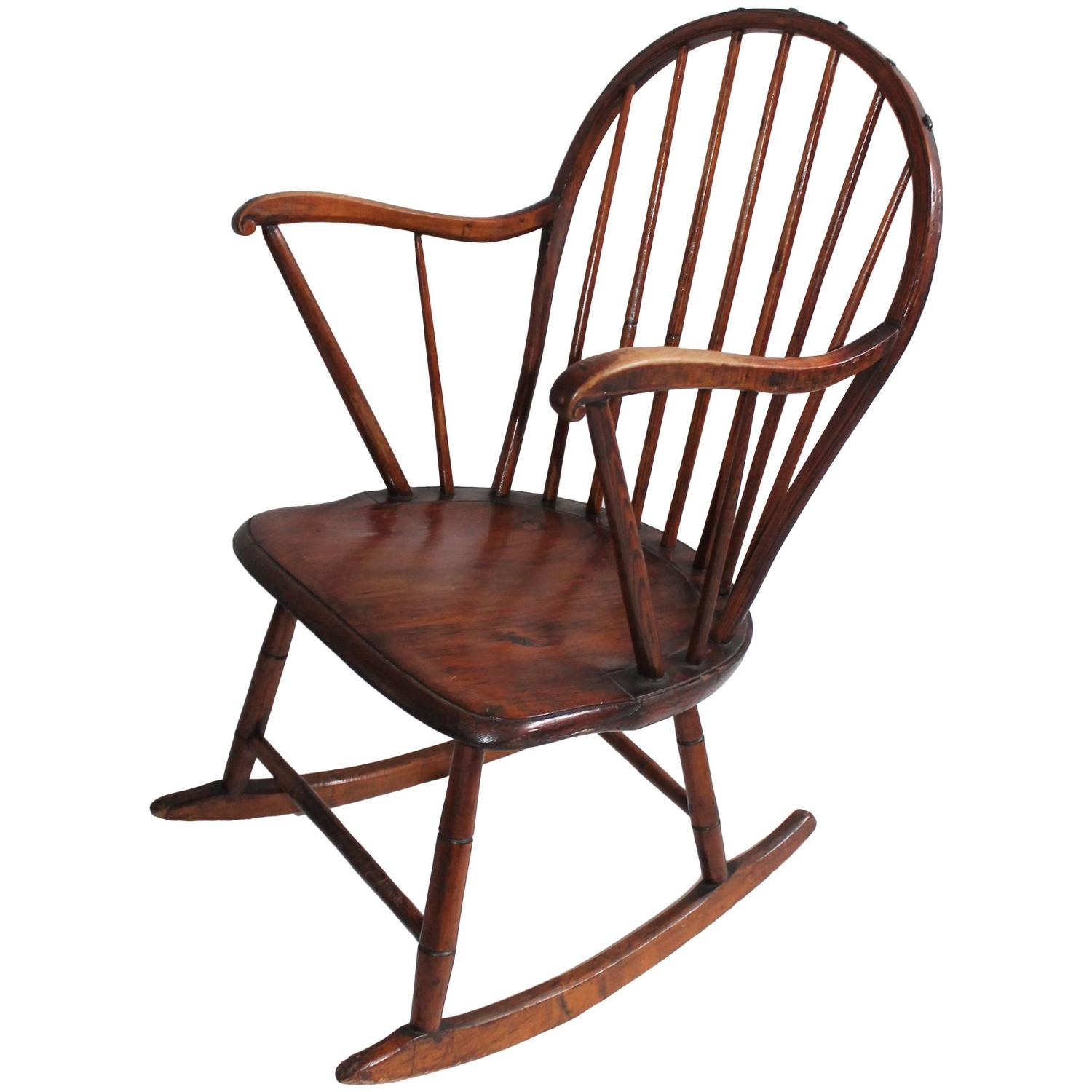 18th Century Extended Arm Windsor Rocking Chair For Sale At 1stdibs