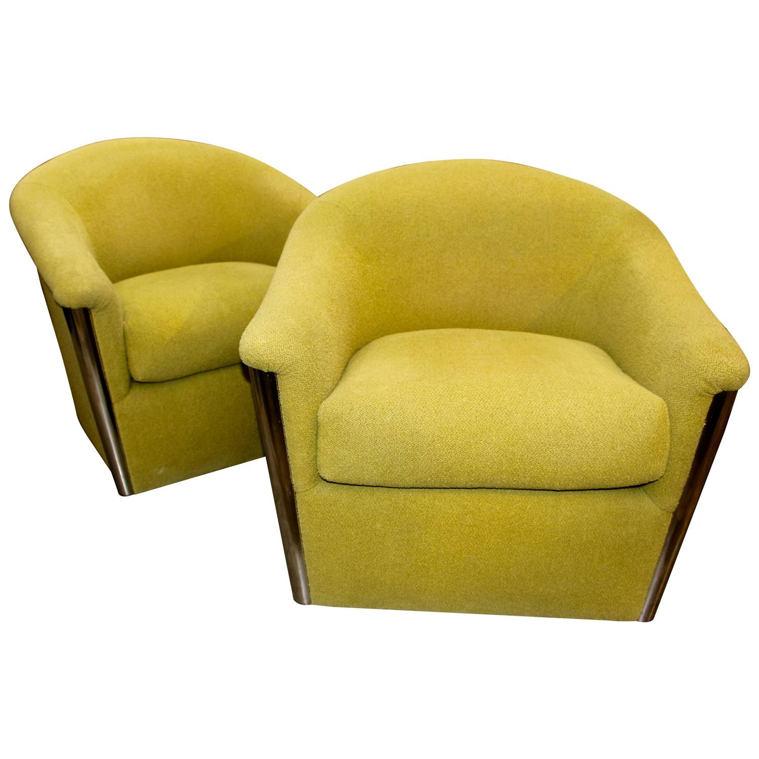 Fabulous Pair Of Chartreuse Designed By Sally Sirkin Lewis