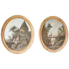 Pair of 18th Century Engravings by Pillement