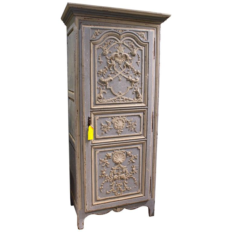 antique french 19th century regence style single door armoire bonnetiere at 1stdibs. Black Bedroom Furniture Sets. Home Design Ideas