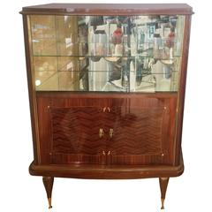 Art Dec French Cocktail Drinks Bar or Display Cabinet