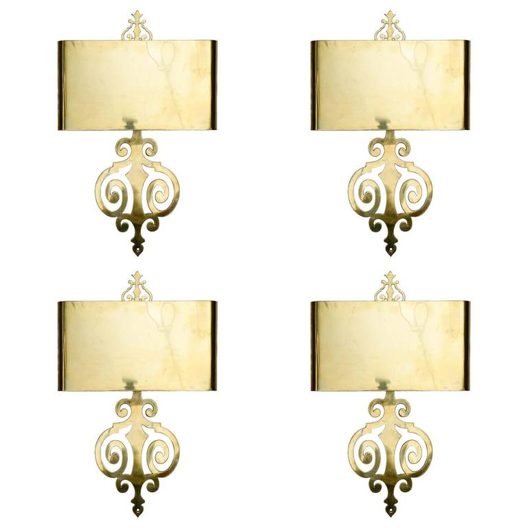 Set of Four Sconces by Maison Charles