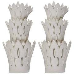 Pair of Ceramic Wall Sconces by Georges Pelletier