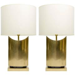 Pair of Chic Brass Table Lamps