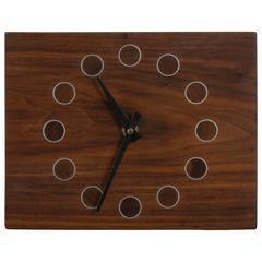 Vintage Mid-Century Wood Clock