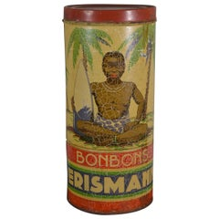 Art Deco Erismann Candy Tin with Black Boy, Europe , 1920s