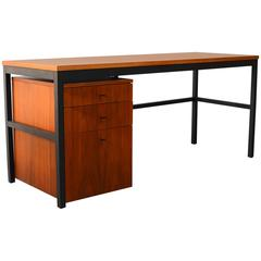 Walnut Architectural Desk by  Milo Baughman for Directional 1960s