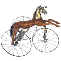 French Velocipede or Child's Horse Tricycle