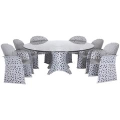 Richard Schultz for Knoll Seven-Piece Topiary Garden Dining Set