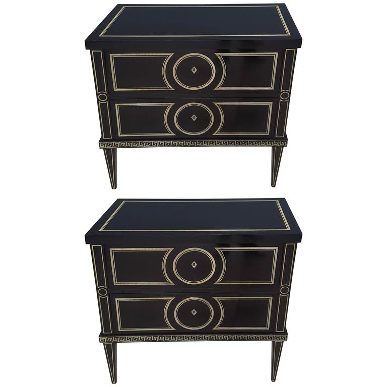 Pair of Custom Commodes in the Fornasetti Manner