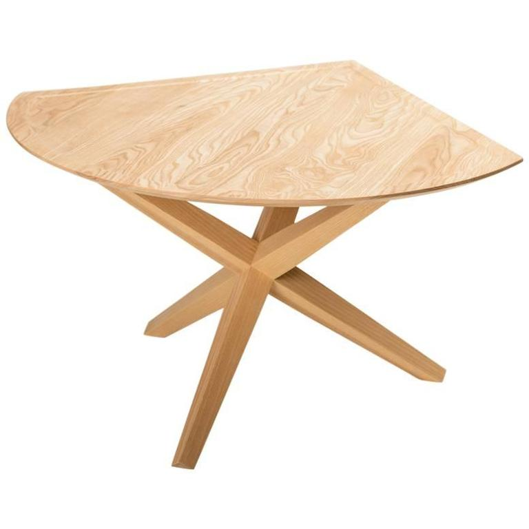 Solid Ash Jack Base End Table For Sale