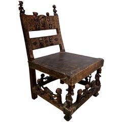 Vintage African Chief's Throne Chair