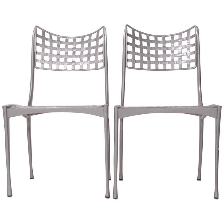 Set of fourDan Johnson Sol y Luna patio chairs, ca. 1975