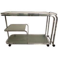 DIA, Design Institute of America Swivel Bar Cart or Writing Table