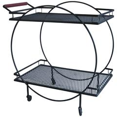 Mid-Century Wrought Iron Bar or Serving Cart