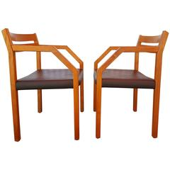 Pair of Niels Otto Moller Teak Armchairs