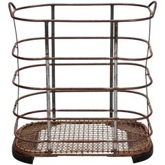 French Iron and Metal Industrial Bin or Trolley