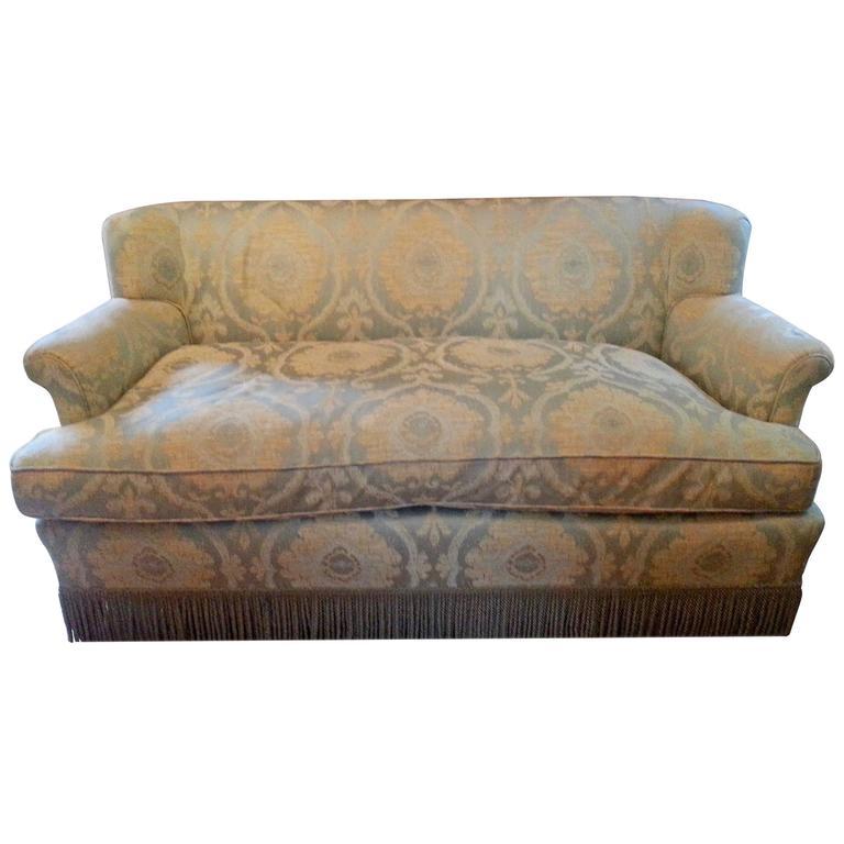 Stunning Lee Jofa Linen And Silk Upholstered Sofa At 1stdibs
